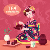 Tea Ceremony Poster Royalty Free Stock Images