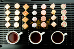 Tea ceremony with puer Royalty Free Stock Image