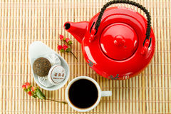 Tea ceremony with puer tea Royalty Free Stock Photo