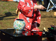 Tea ceremony. A tea ceremony is a ritualized form of making tea practiced in Asian culture by the Chinese, Japanese.The Japanese tea ceremony is better known Stock Photo