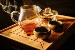 Tea ceremony, brewed hot tea royalty free stock photography
