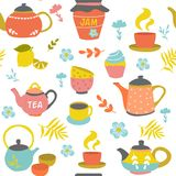 Tea Ceremony Seamless Pattern Royalty Free Stock Images