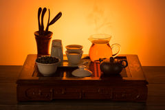 Tea ceremony set Stock Photo