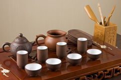 Tea ceremony. Tea set ready for traditional Chinese tea ceremony Royalty Free Stock Image