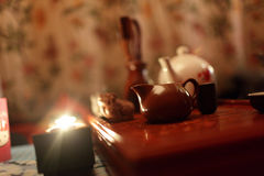 Tea Ceremony set in a restaurant Royalty Free Stock Photos