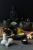 Tea ceremony in Spa Royalty Free Stock Photos
