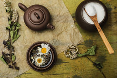Tea ceremony- still life background Stock Photo