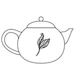 Tea ceremony tea pot vector illustration Stock Images
