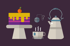 Tea ceremony traditional asian drink vector illustration. Royalty Free Stock Image