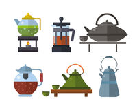 Tea ceremony traditional asian drink vector illustration. Royalty Free Stock Images