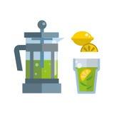 Tea ceremony traditional asian drink vector illustration. Stock Photos
