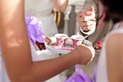 Tea ceremony. Traditional wedding tea ceremony in Japan Royalty Free Stock Photography
