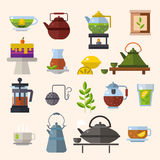 Tea ceremony vector concept illustration Royalty Free Stock Photography