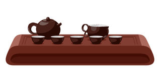 Tea ceremony. Vector illustration. Royalty Free Stock Images