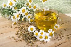 Tea with chamomile flowers Royalty Free Stock Image