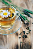 Tea with chamomile and herbs Royalty Free Stock Photography