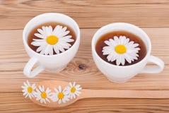 Tea with chamomiles. Royalty Free Stock Photo