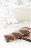 Tea and chocolate Royalty Free Stock Photography