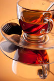 Tea with chocolate candy Stock Photography