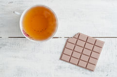 Tea and chocolate Royalty Free Stock Photo