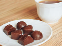 Tea chocolate Royalty Free Stock Photo