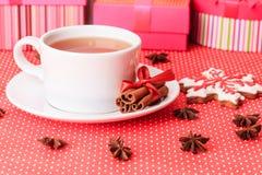 Tea and christmas cookies Royalty Free Stock Photo