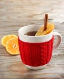 Tea with cinnamon and citrus Stock Photo