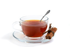 Tea with cinnamon Stock Images
