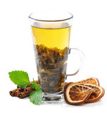 Tea, cinnamon and mint Royalty Free Stock Photos