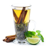 Tea, cinnamon and mint Stock Images