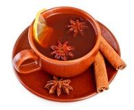 Tea with cinnamon sticks and star anise Stock Photography