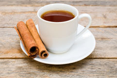 Tea with cinnamon Stock Photography