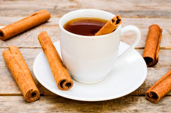Tea with cinnamon Royalty Free Stock Photos