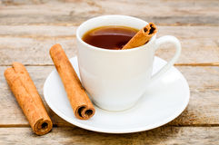 Tea with cinnamon Royalty Free Stock Images