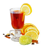 Tea with citrus Royalty Free Stock Photos