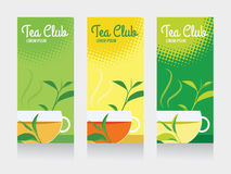 Tea club and tea cup banner Royalty Free Stock Photos