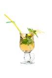 Tea cocktail. In Irish Coffee Glass Royalty Free Stock Image