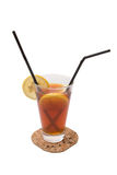 Tea Cocktail. With cognac and orange juice Royalty Free Stock Images