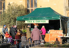 Tea and coffe tent. Royalty Free Stock Photos