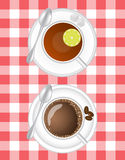 Tea and coffee Royalty Free Stock Photo