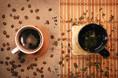 Tea and coffee Stock Photography