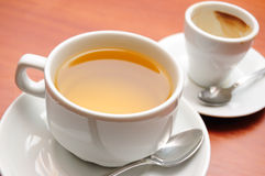Tea and coffee royalty free stock images