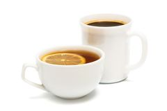 Tea and coffee royalty free stock photos