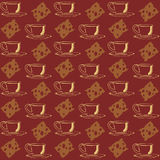 Tea coffee background cup cheese seamless texture Stock Photos