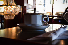Tea/Coffee Break Layout Royalty Free Stock Photos