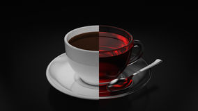 Tea and coffee cup conceptual collage Royalty Free Stock Photography