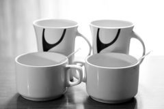 Tea and coffee cups Stock Image