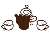 Tea, coffee cups Stock Photography