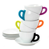 Tea or coffee cups Royalty Free Stock Image