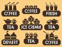 tea coffee dessert Stock Images